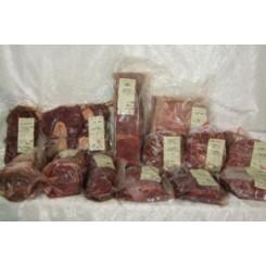 10 kg. bl. oksekød ( hakket, skært, stege,m.m.)