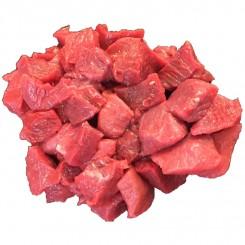 Gullasch, oksekød i tern ca. 400 gr.