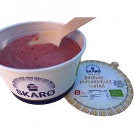 Jordbær Passionsfrugt sorbet 100 ml.