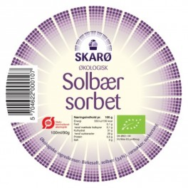 Solbær sorbet 100 ml. 4 stk. 100.00 kr.