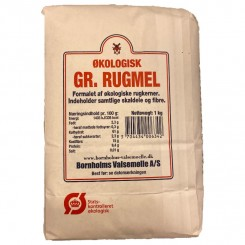 Rugmel grov Bornholm 1 kg.
